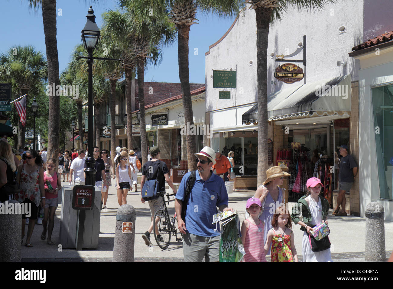 7163bd6ed St. Saint Augustine Florida St. George Street pedestrian mall shopping  dining walking families -