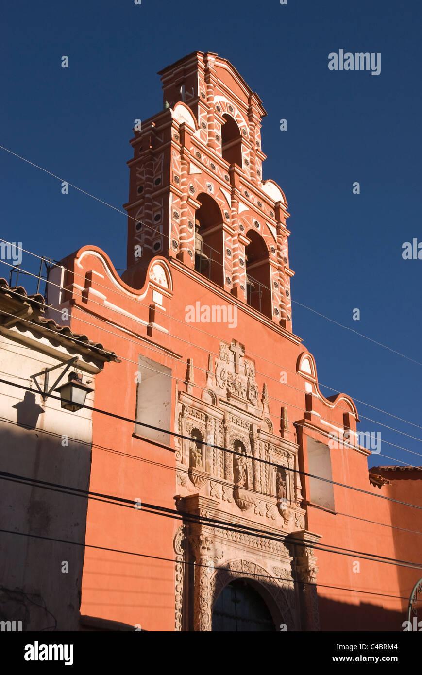 Potosi, Santa Teresa 1685, facade - Stock Image