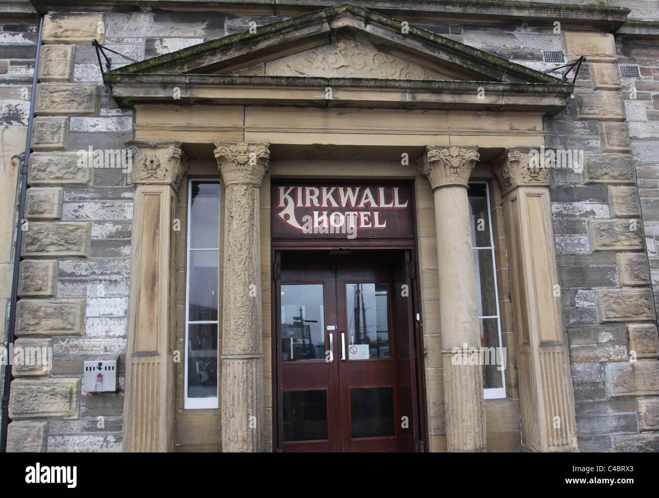 Entrance to Kirkwall Hotel Orkney Scotland May 2011 - Stock Image