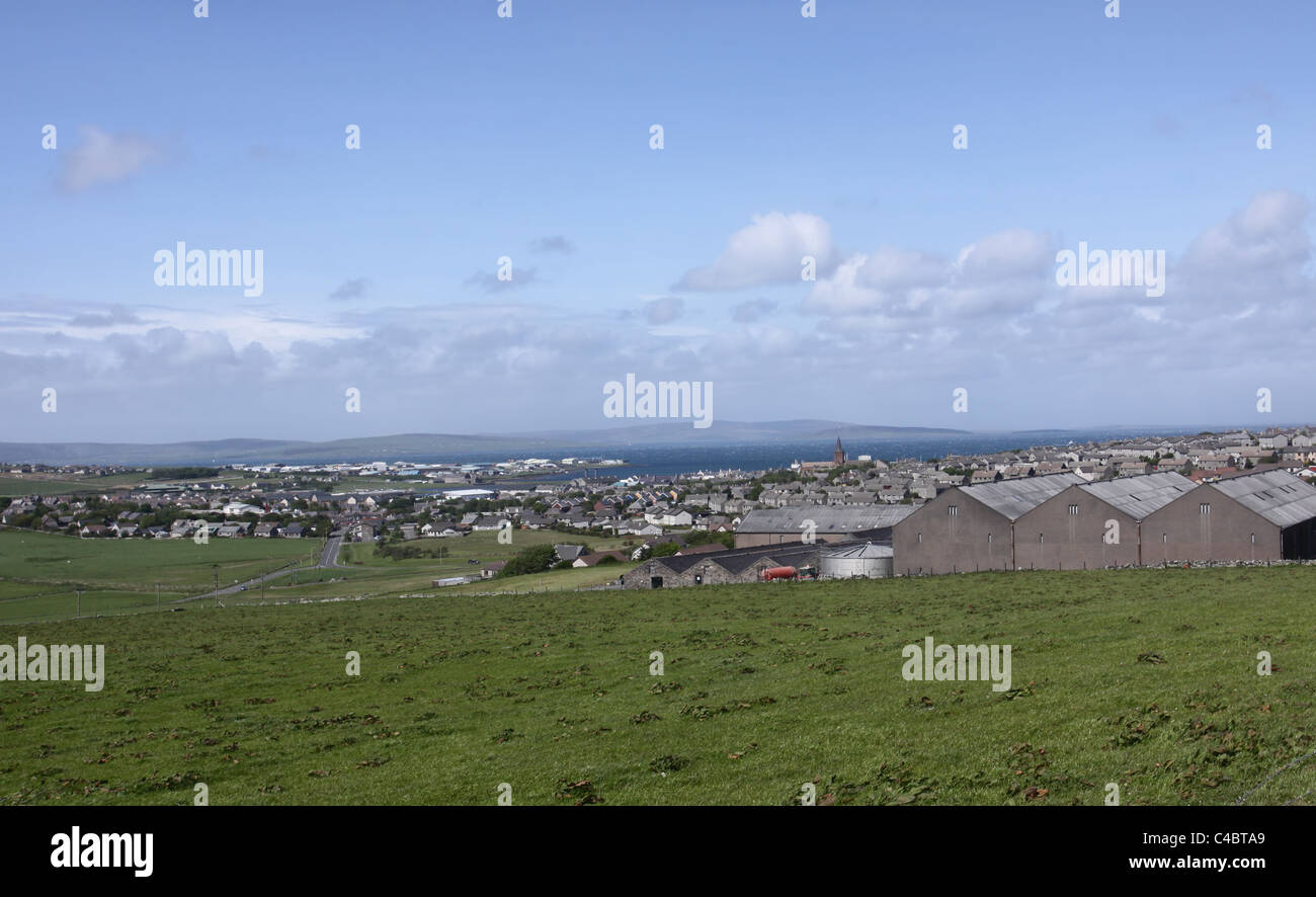 Elevated view of Kirkwall Orkney Scotland May 2011 - Stock Image