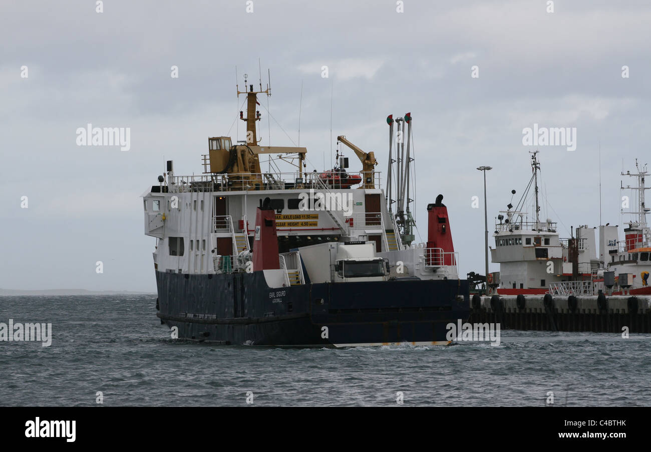 Ferry departing Kirkwall Orkney Scotland May 2011 - Stock Image