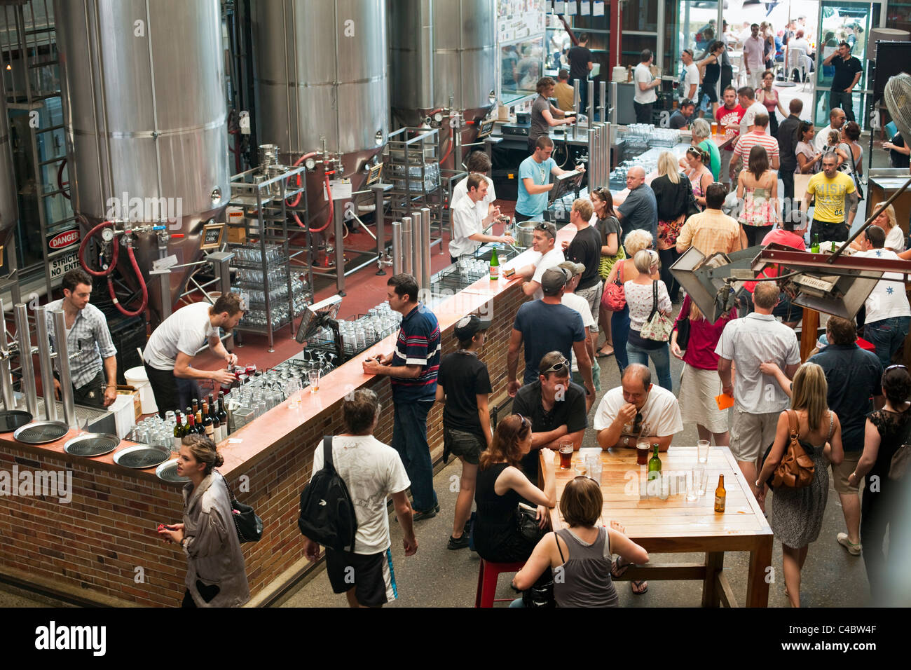 Little Creatures brewery at Fishing Boat Harbour. Fremantle, Western Australia, Australia - Stock Image