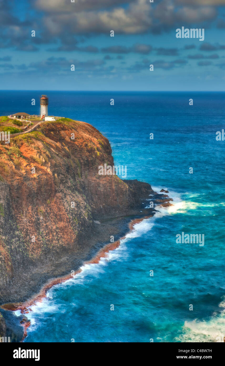 Kilauea lighthouse - Stock Image