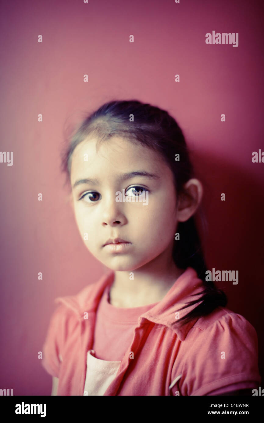 Portrait in pink - Stock Image