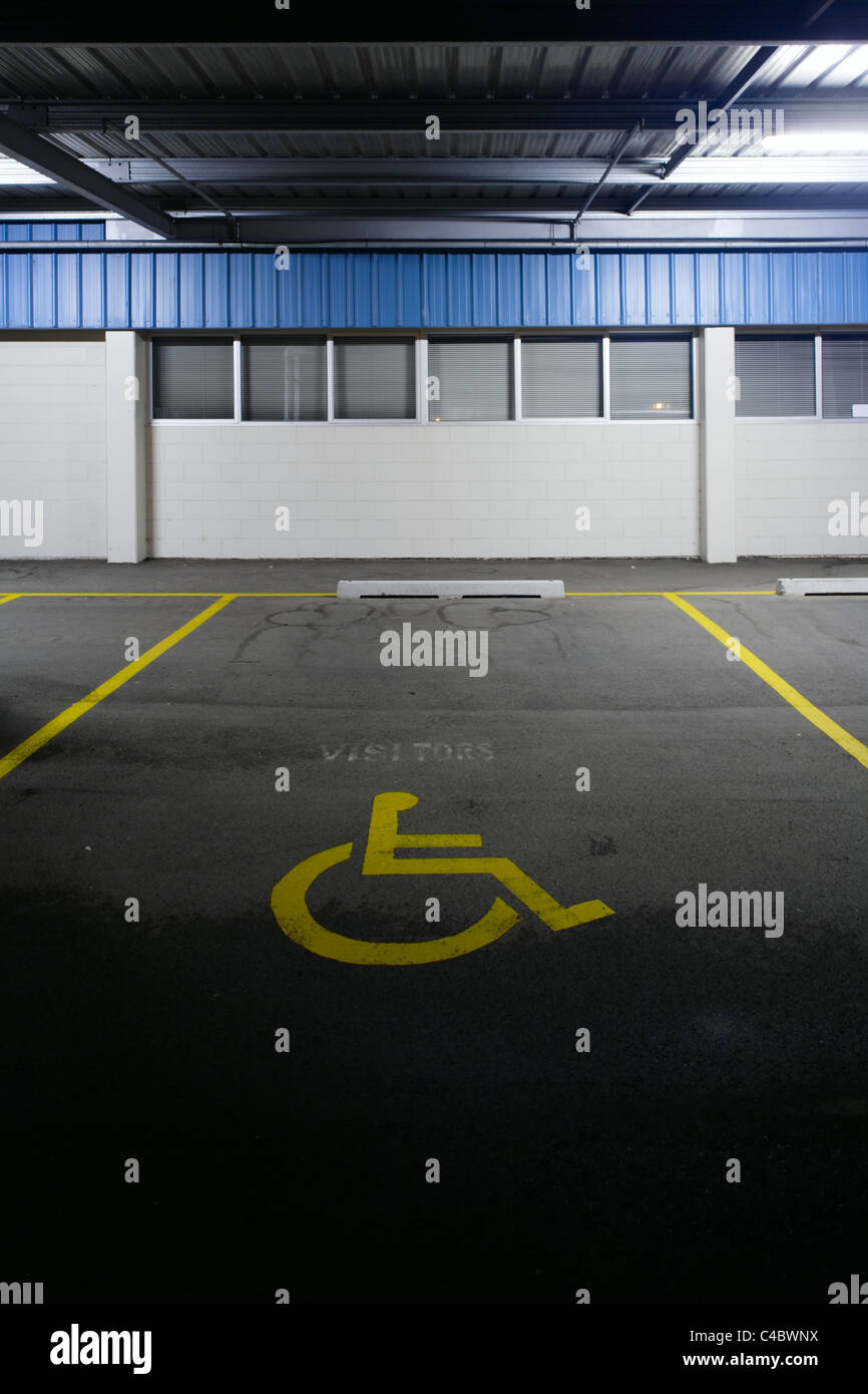Disabled parking, New Zealand. - Stock Image