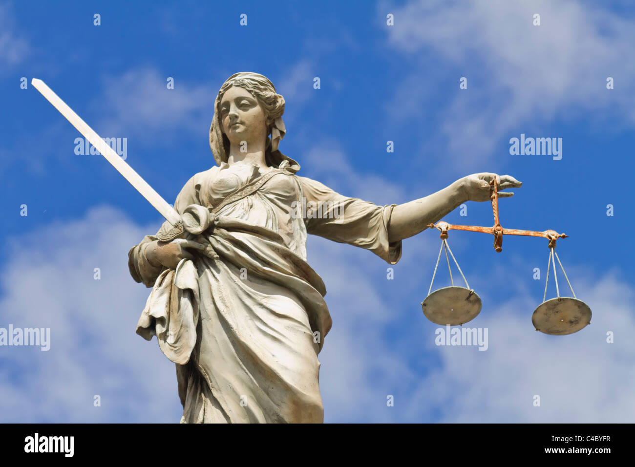 Lady Justice statue in Dublin, Ireland - Stock Image