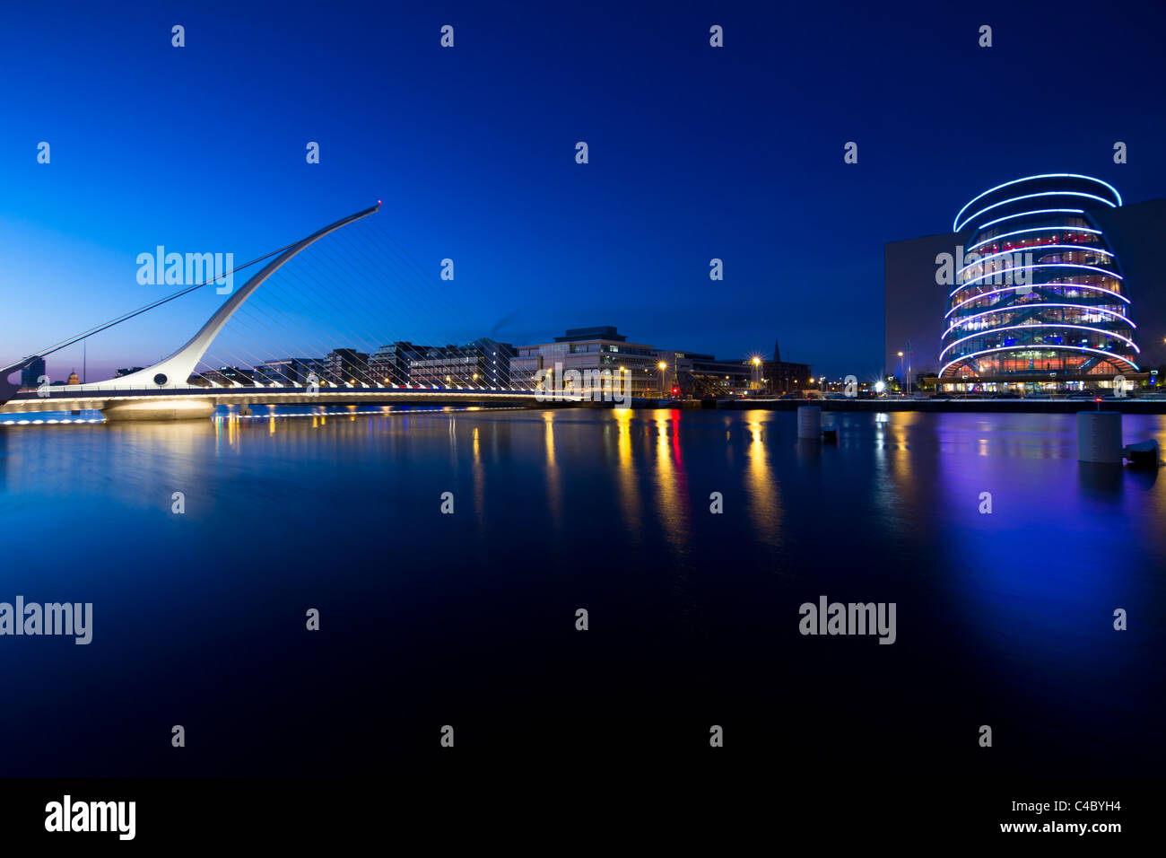 Samuel Beckett bridge, Dublin Stock Photo