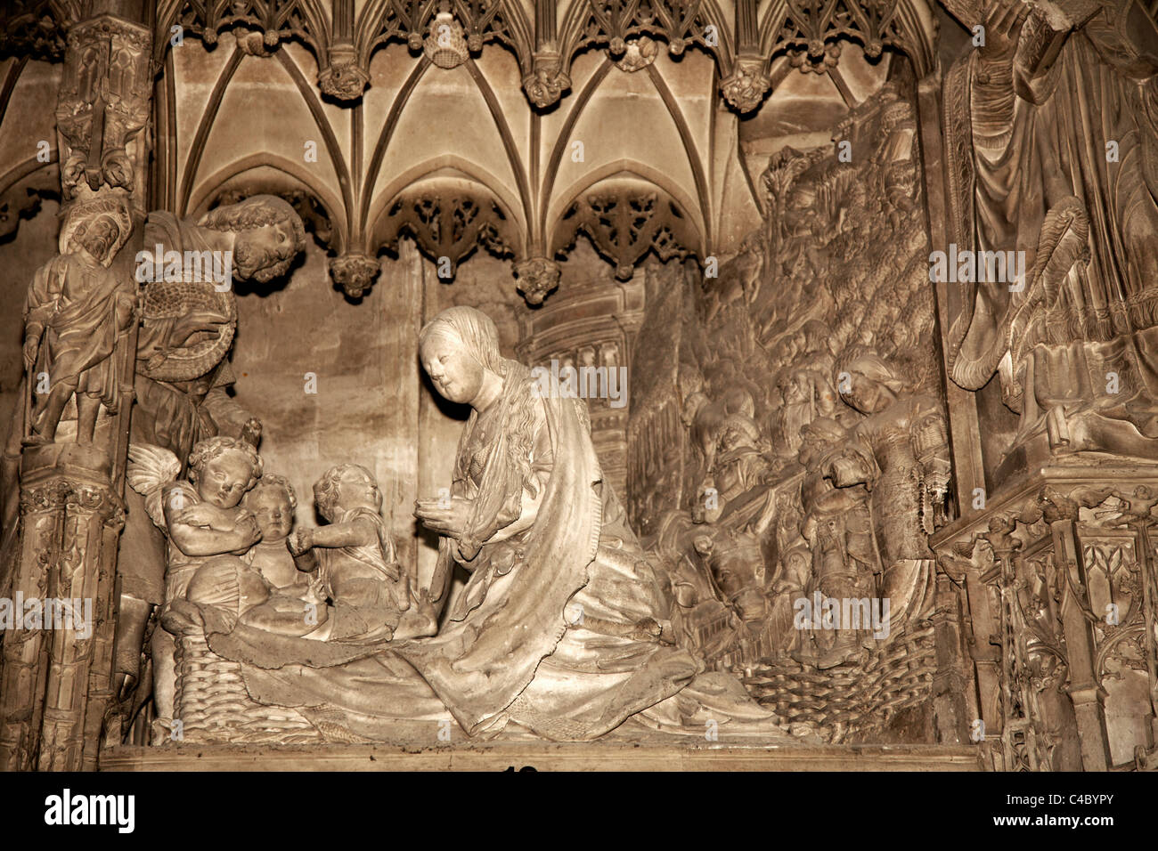 France Chartres Cathedral Our Lady  Notre-Dame - Stock Image