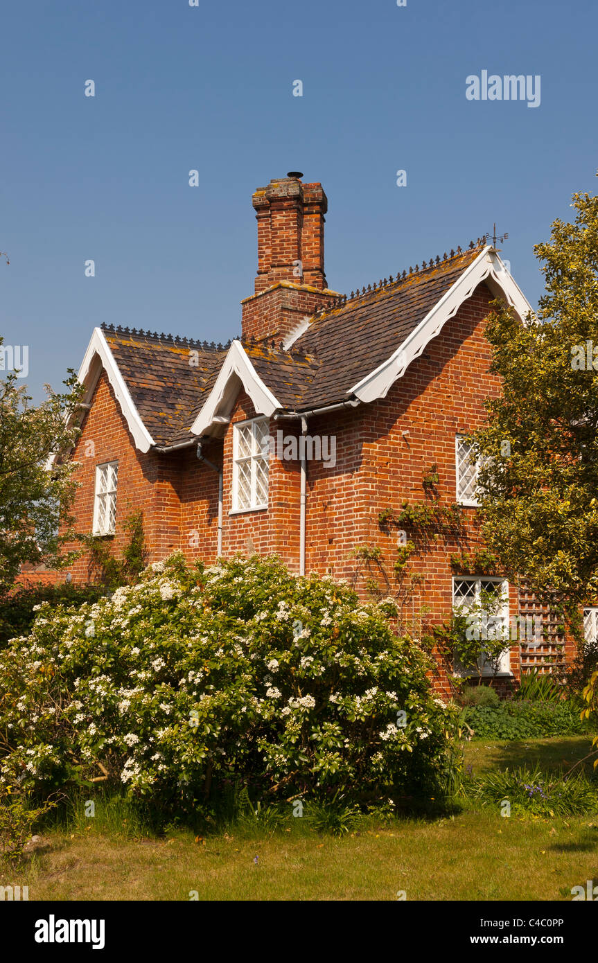 A pretty country cottage at Dunwich , Suffolk , England , Britain , Uk - Stock Image