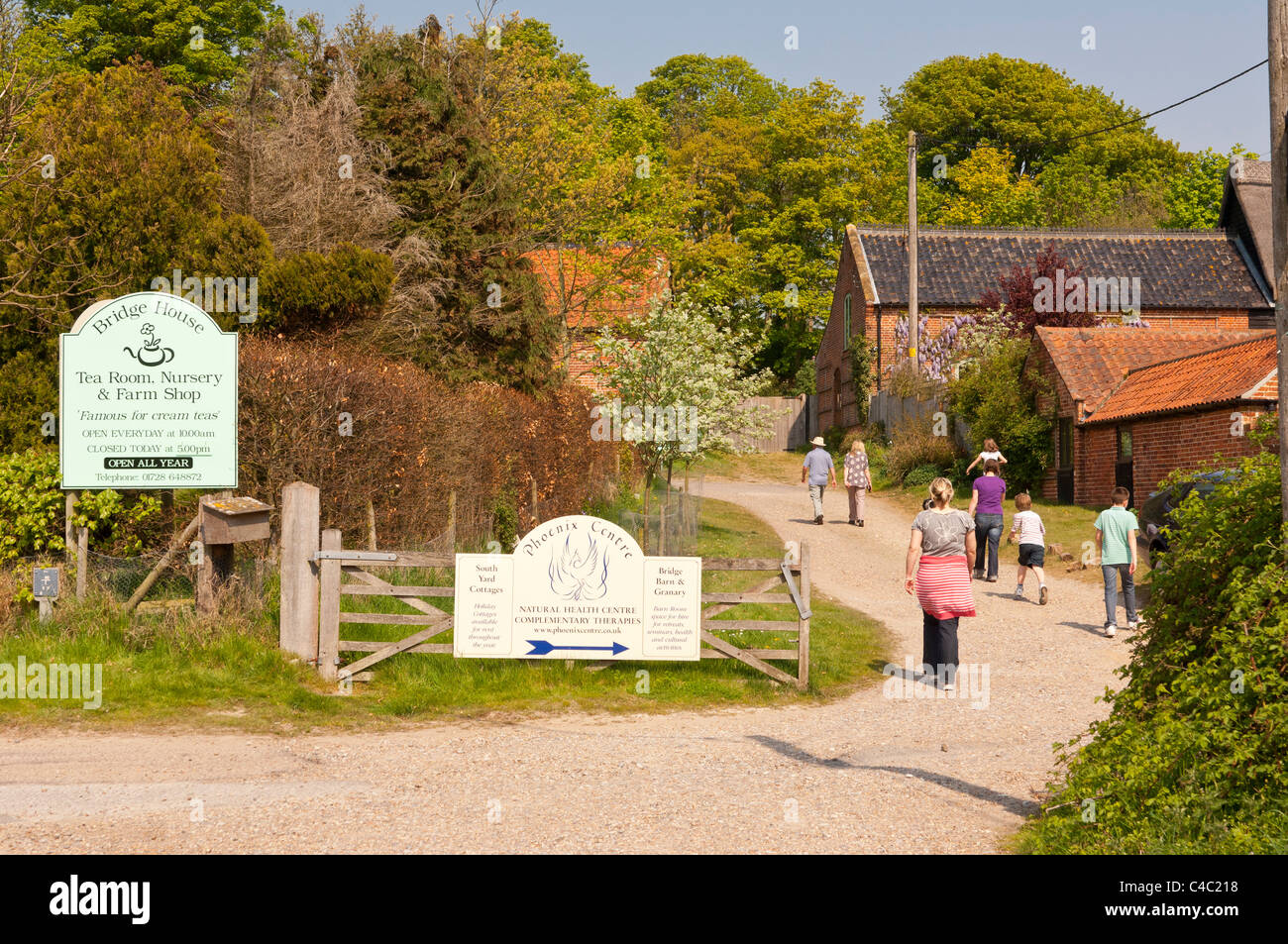 The Bridge House tea room , nursery and farm shop at Dunwich , Suffolk , England , Britain , Uk - Stock Image
