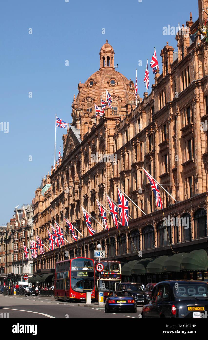 Harrods store in Knightsbridge London. - Stock Image
