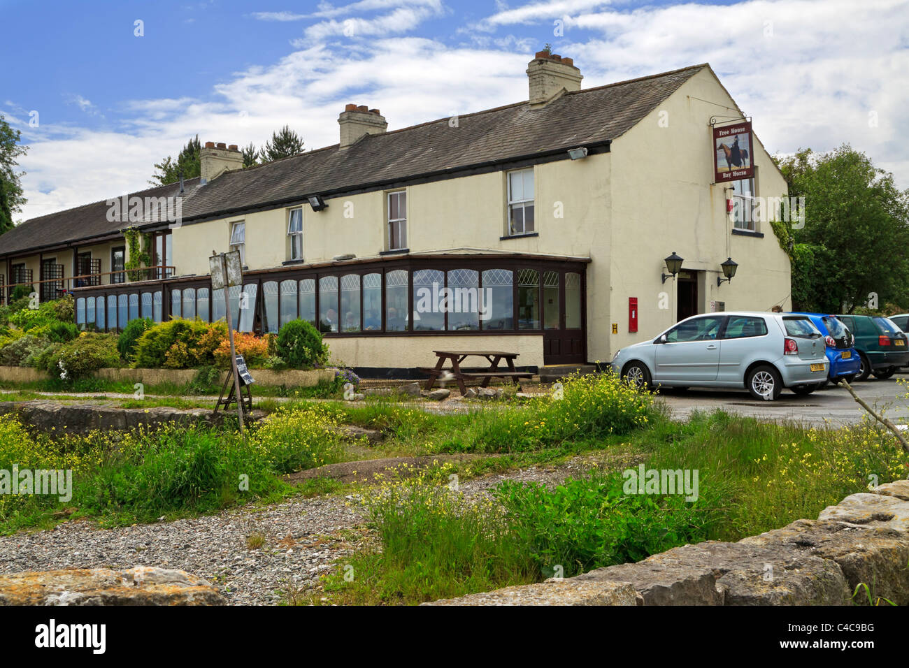 Bay Horse Hotel, Canal Foot, Cumbria. - Stock Image