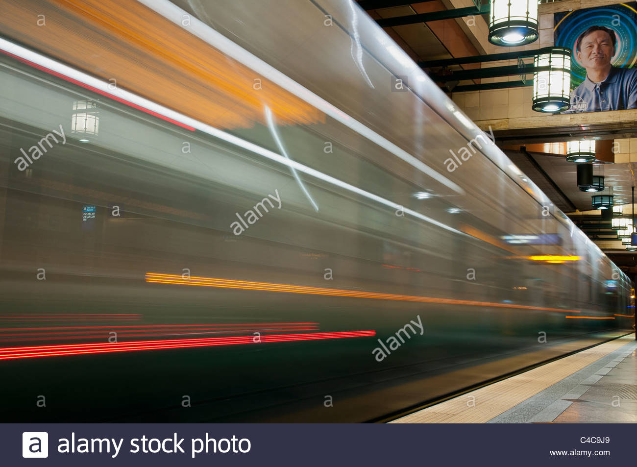 Westlake station, Metro Tunnel, Seattle, Washington, USA - Stock Image