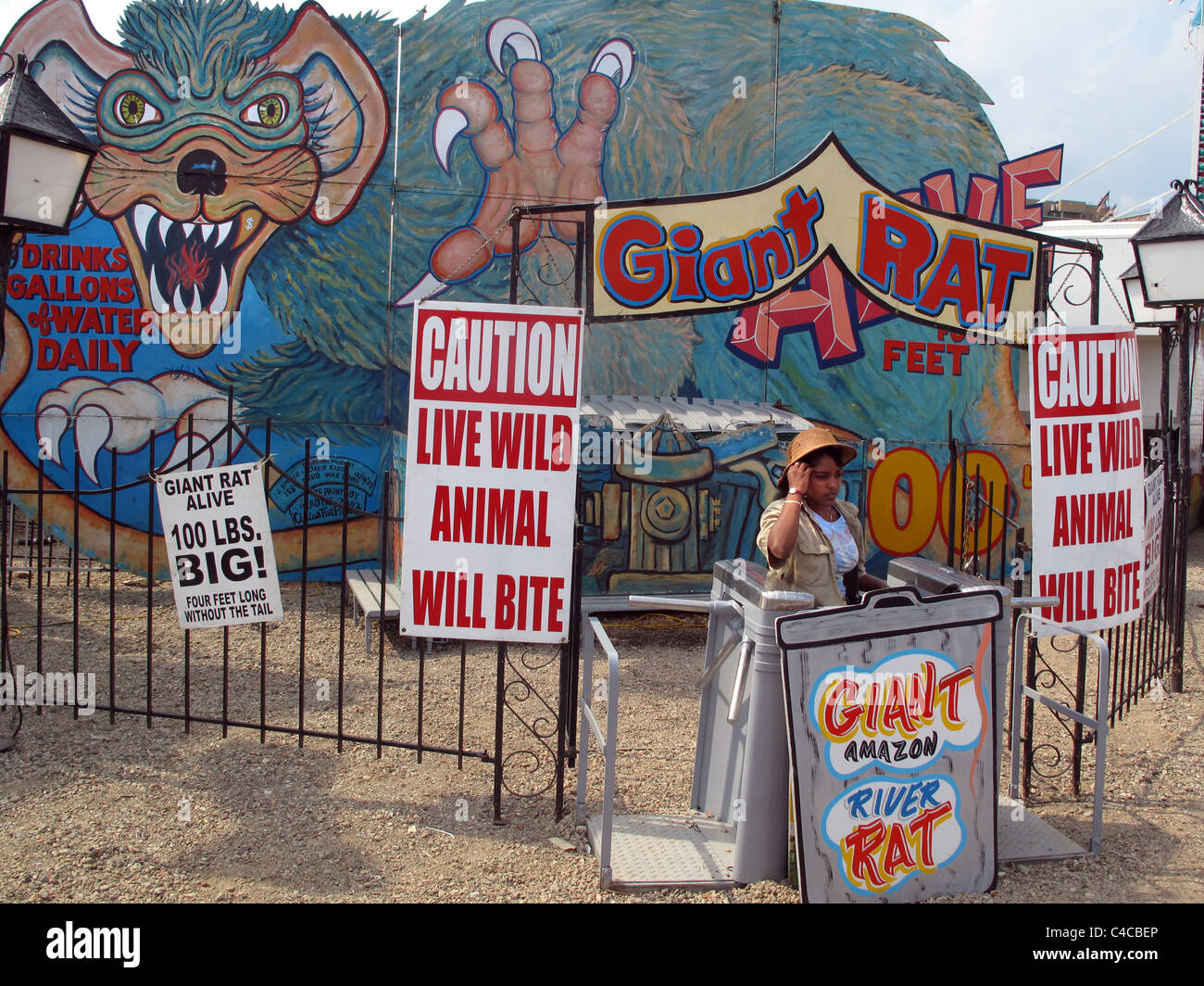 Giant rat stall (not!) Brighton Beach, Coney Island,  new york city, USA Stock Photo