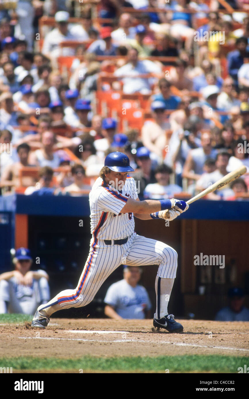 Gary Carter play for the New York Mets. - Stock Image