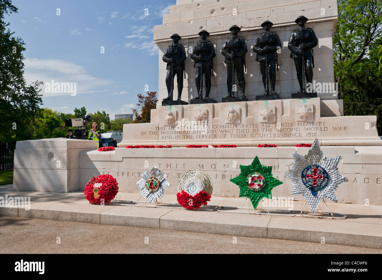 Household division war memorial who died in the Second world war - Stock Image