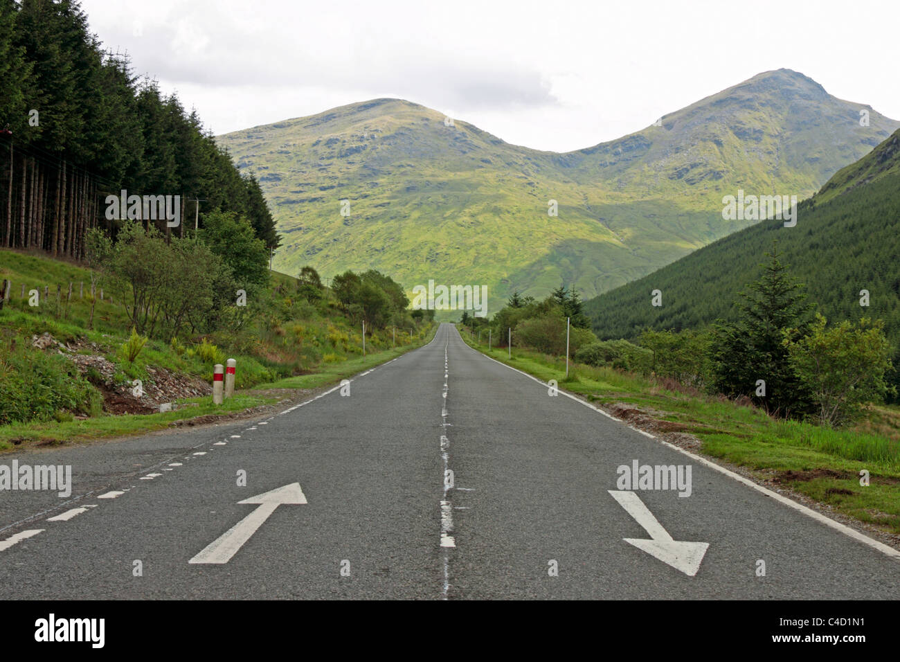 View East on the A83 Near Butterbridge - Stock Image