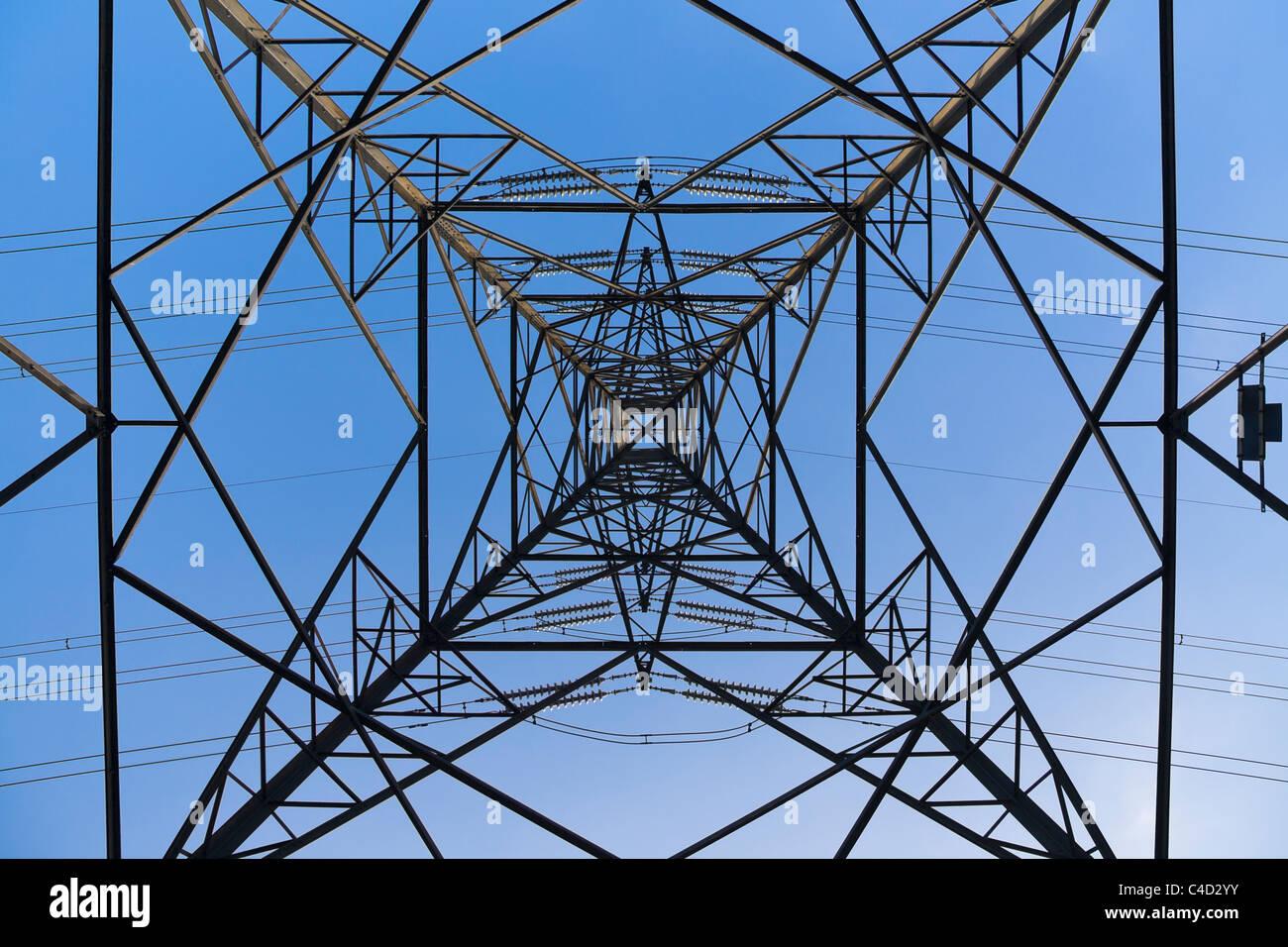 Electricity pylon or tower, UK - Stock Image
