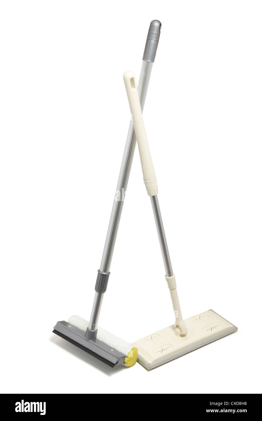 Mop and Sponge Squeegee - Stock Image