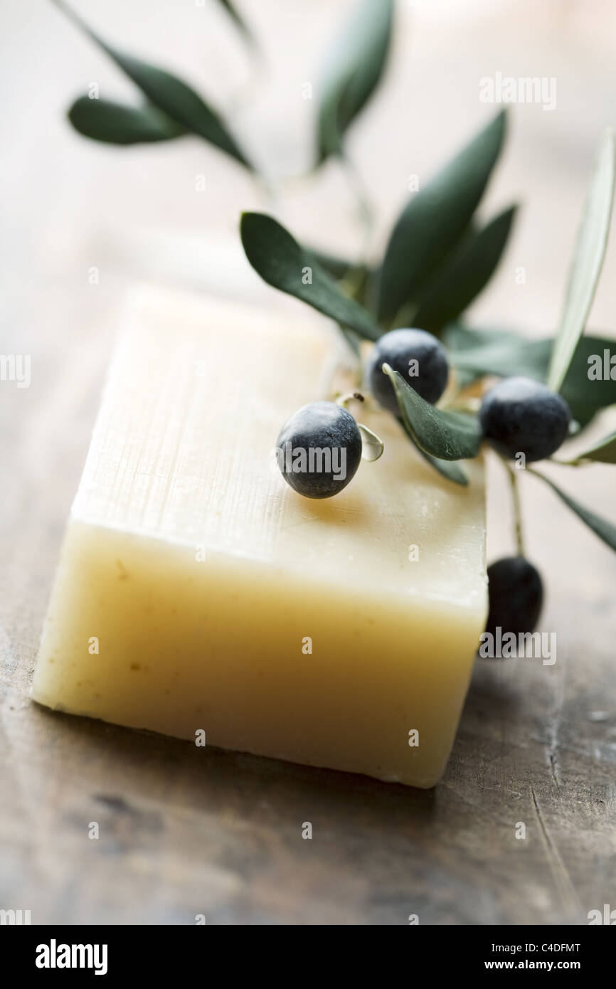 olive soap - Stock Image