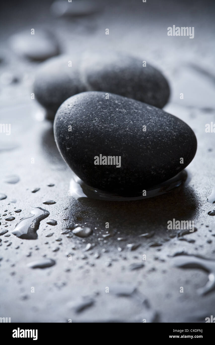 stones and water - Stock Image