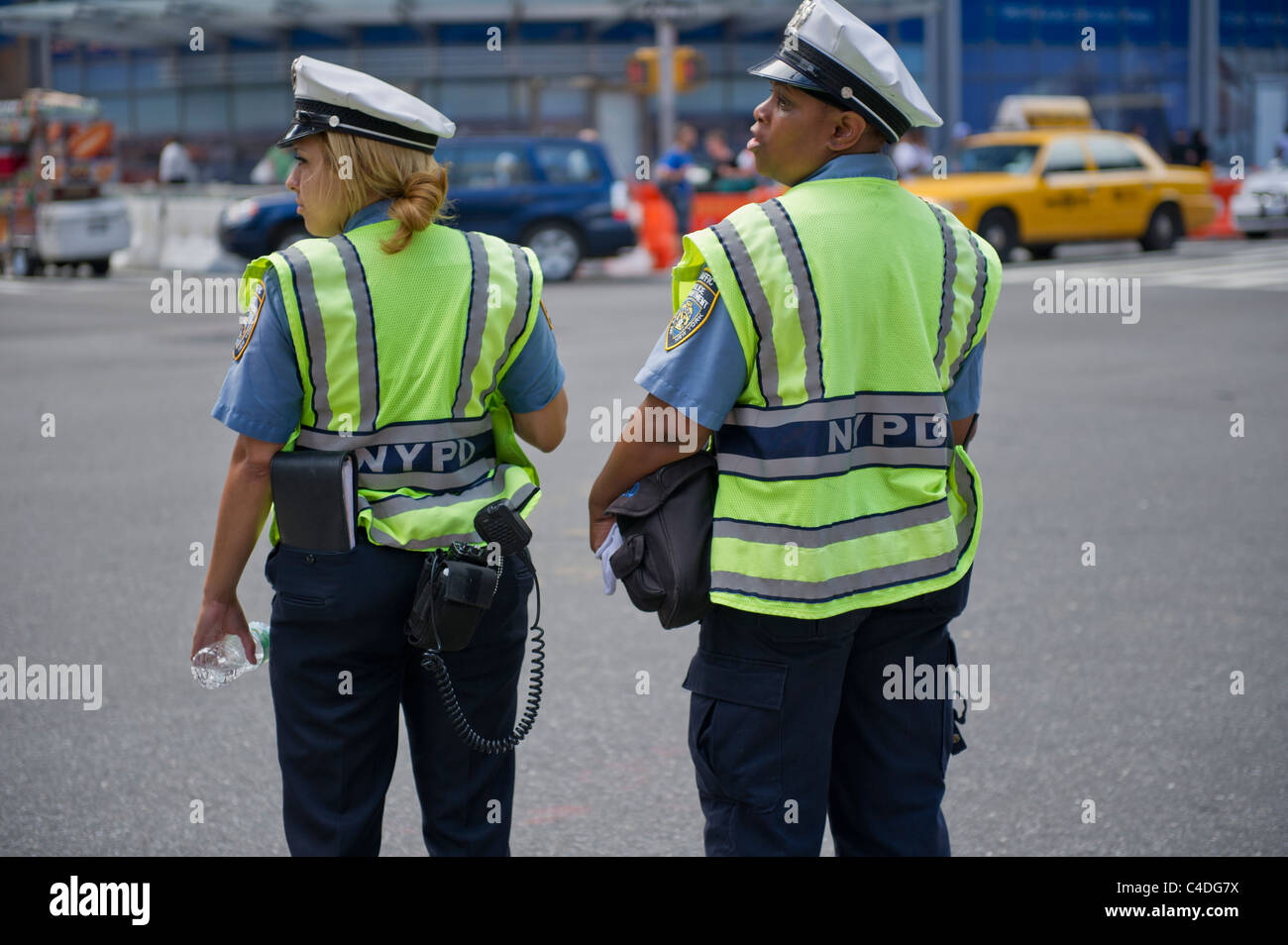 New York City Traffic Police Officers on duties, New York City, Manhattan, US. - Stock Image