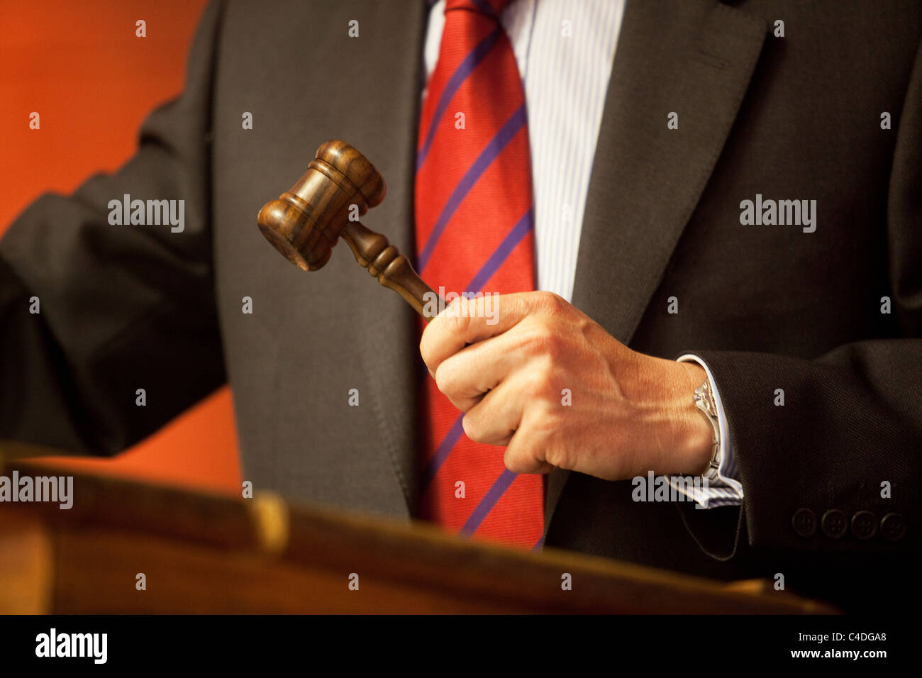 Auctioneer's gavel - Stock Image