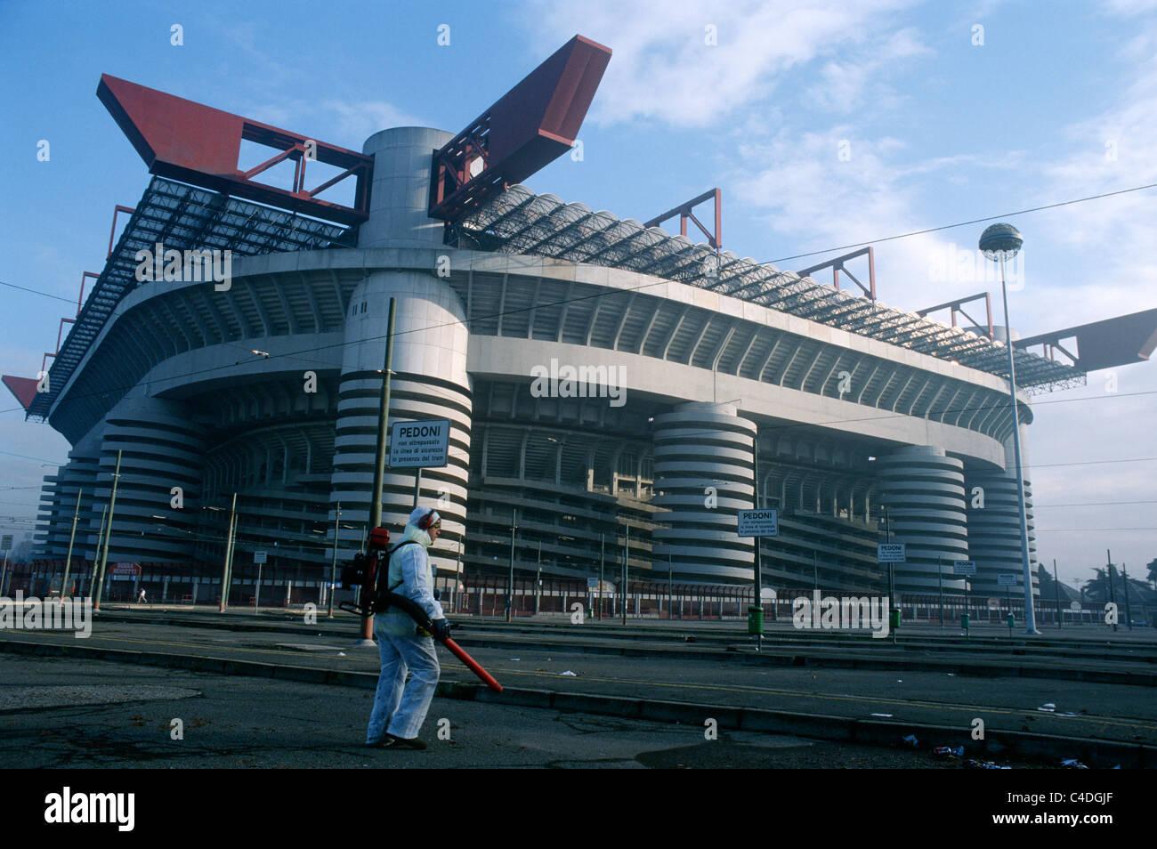 San Siro football stadium Stadio Giuseppe Meazza Milan Italy. Stock Photo