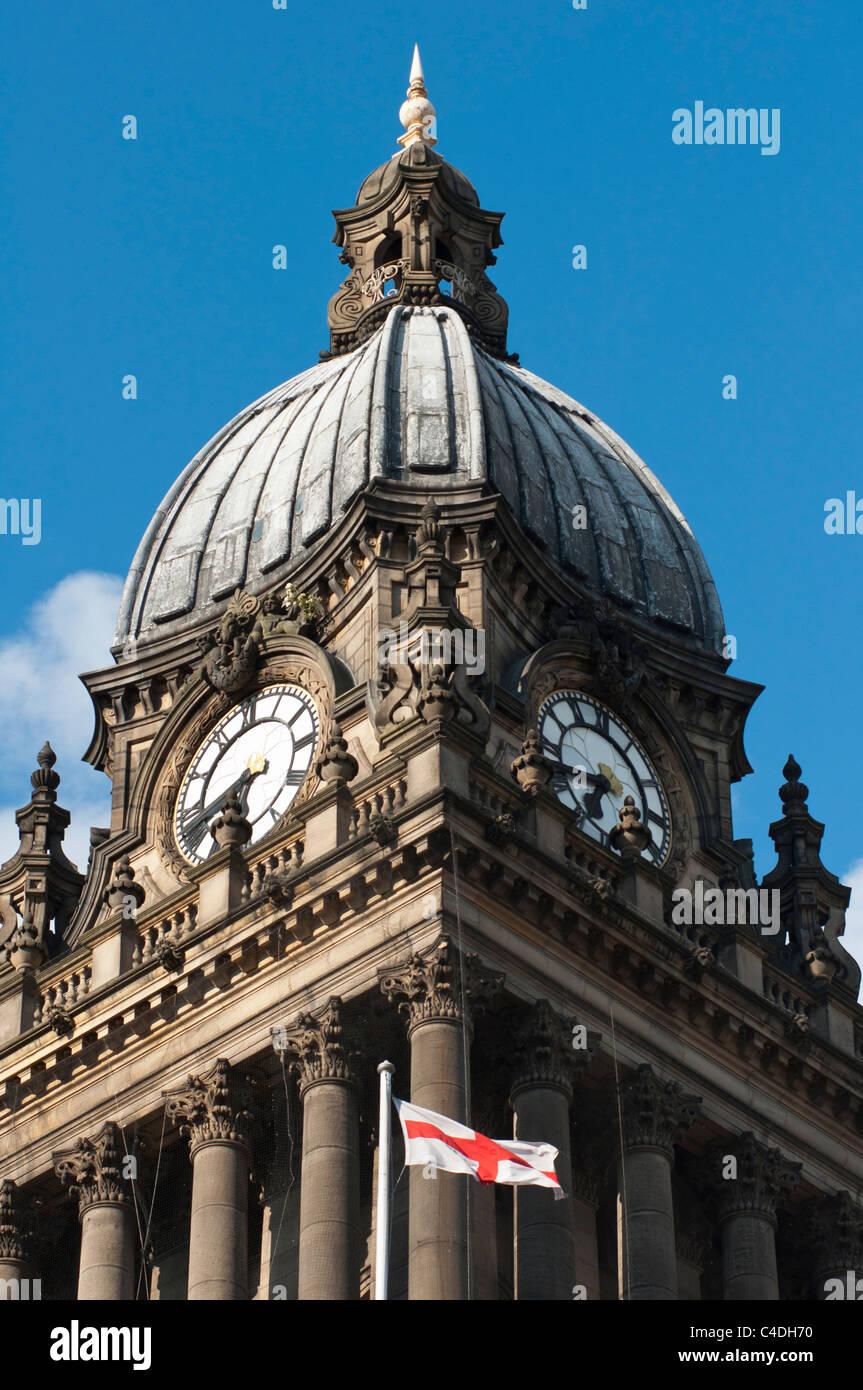 Town Hall Leeds Yorkshire England. - Stock Image