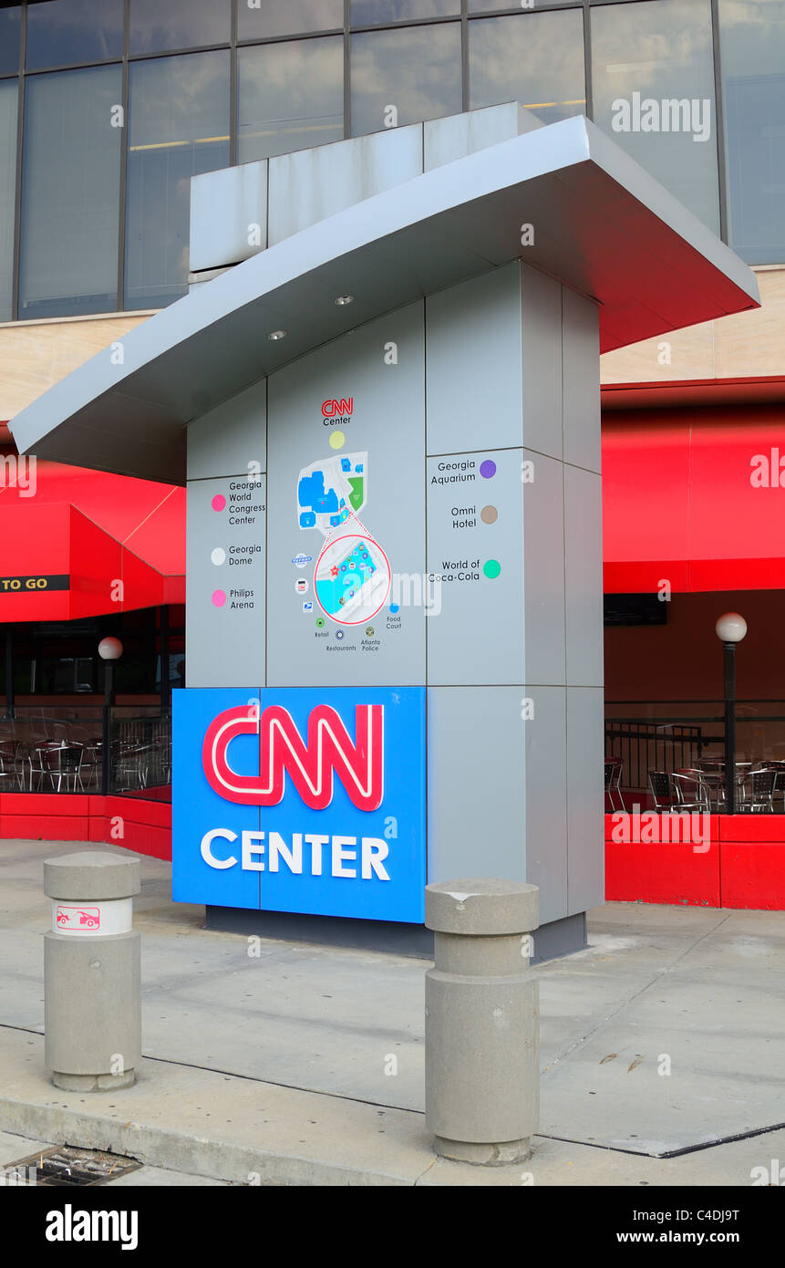 CNN headquarters news building in Atlanta, Georgia. - Stock Image
