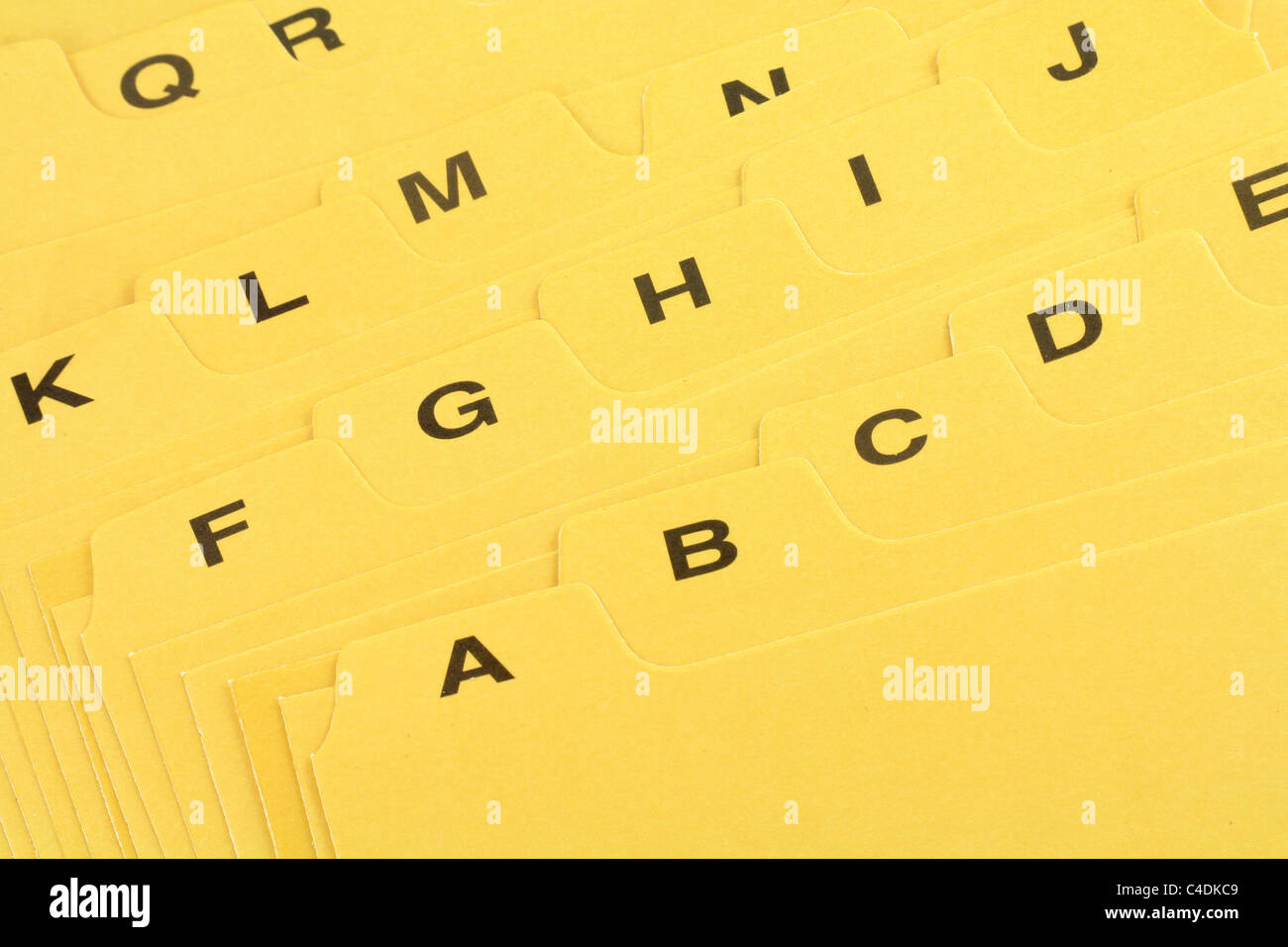 file divider, office supplies, close up - Stock Image