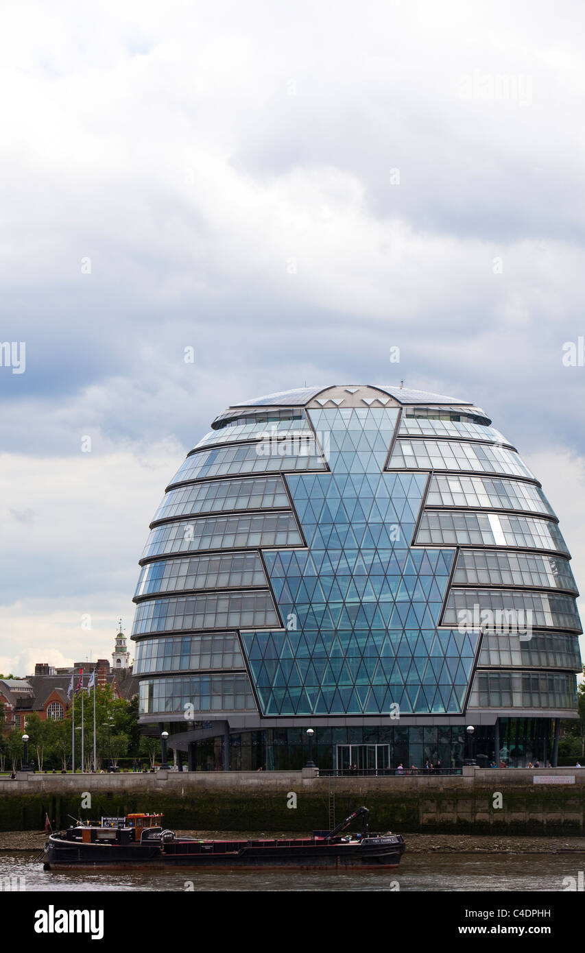 The London Assembly Building,  Queens Walk, London, UK - Stock Image