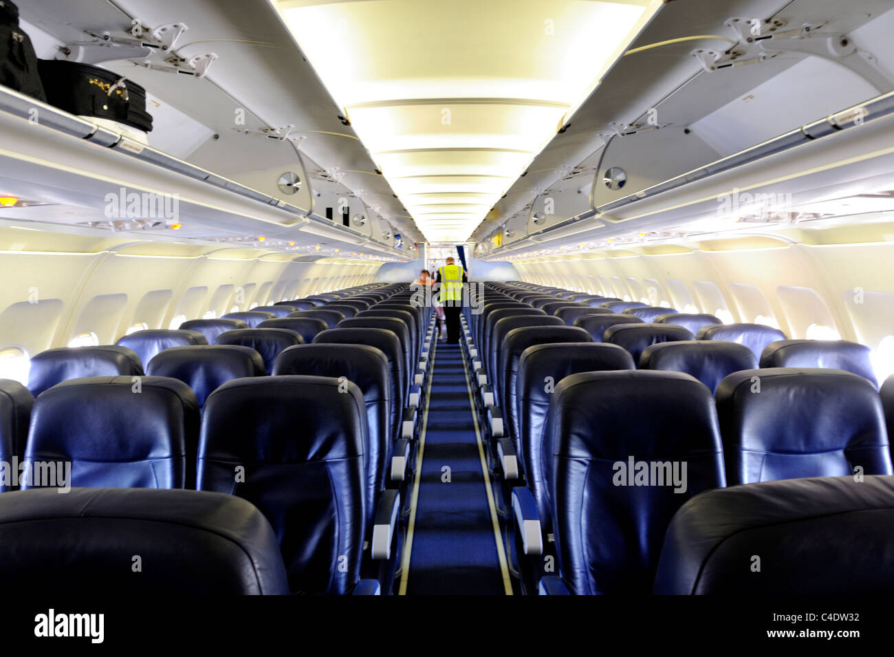 Airbus A320 Plane Inside Cabin Stock Photos & Airbus A320 Plane ...