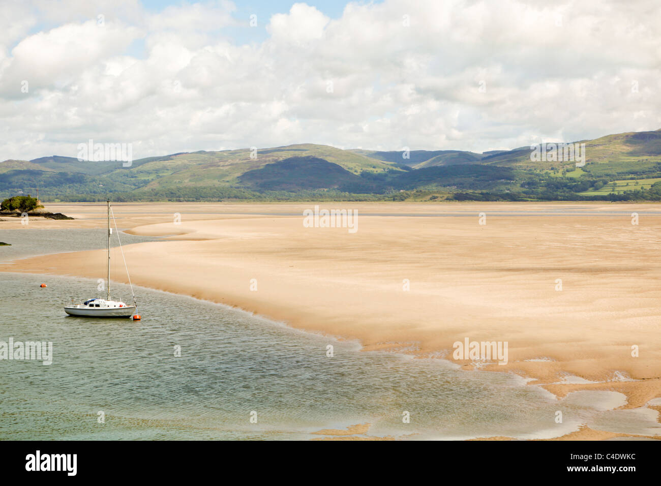 The coastline of Aberdovey (Aberdyfi) in Wales. Stock Photo