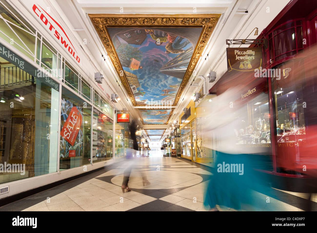 Piccadilly Arcade, Birmingham, West Midlands, England, UK - Stock Image