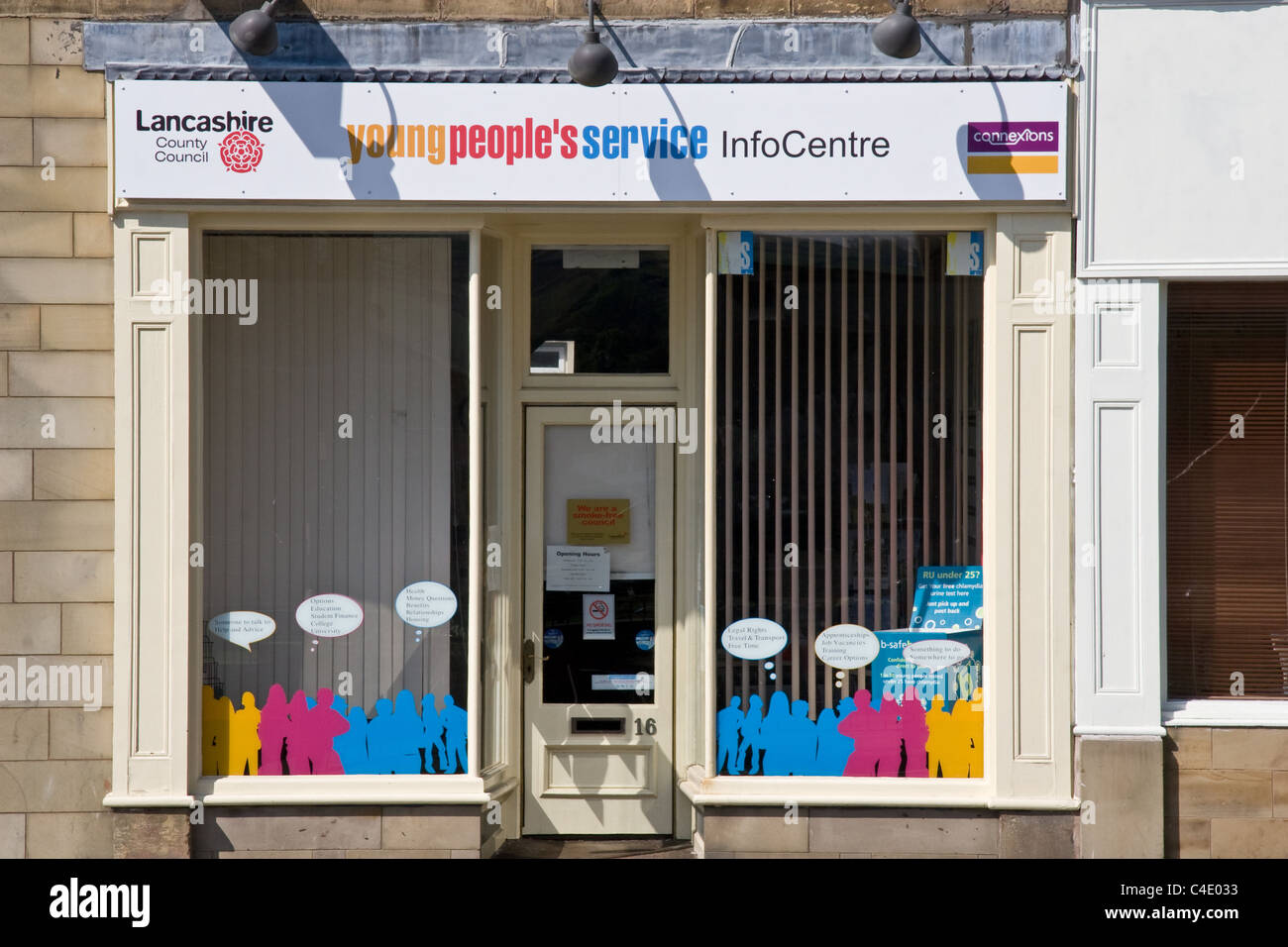 Young peoples service infocentre, Colne, Lancashire, UK. Lancashire County Council/ Connexions. - Stock Image