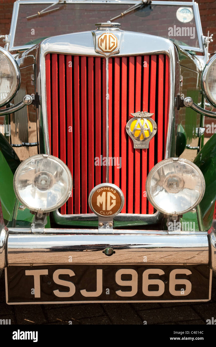 MG Classic car, front view - Stock Image