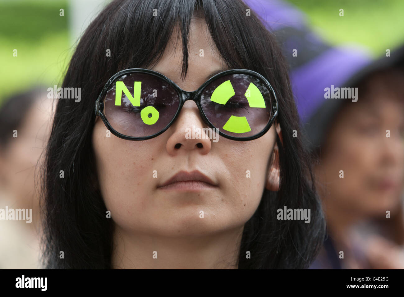 An anti-nuclear march in Tokyo, Japan, in protest against the catastrophe at Fukushima Daiichi nuclear plant. - Stock Image