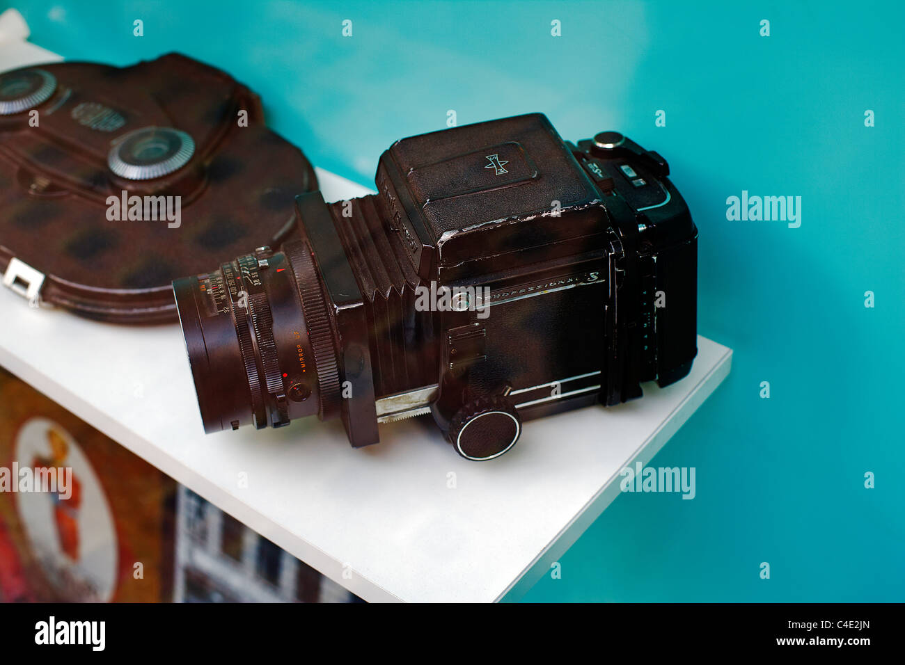 Mamiya RB67 Camera in London Transport Lost and found shop