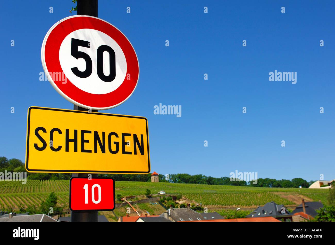 The Schengen Agreement Stock Photos The Schengen Agreement Stock