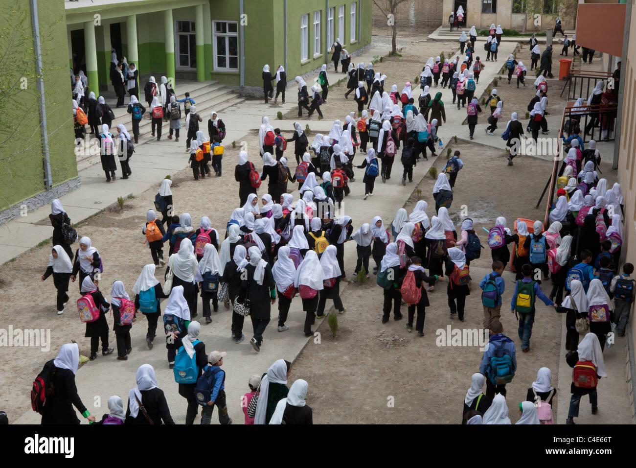 Girl school in Kabul, Afghanistan Stock Photo