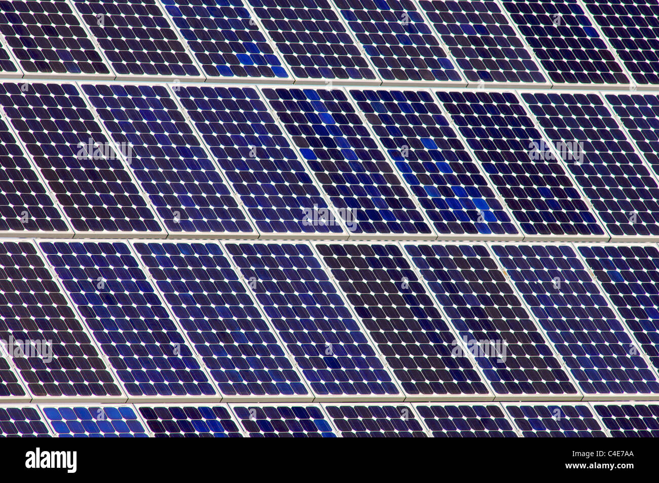 detail of a photovoltaic panel for electricity production - Stock Image