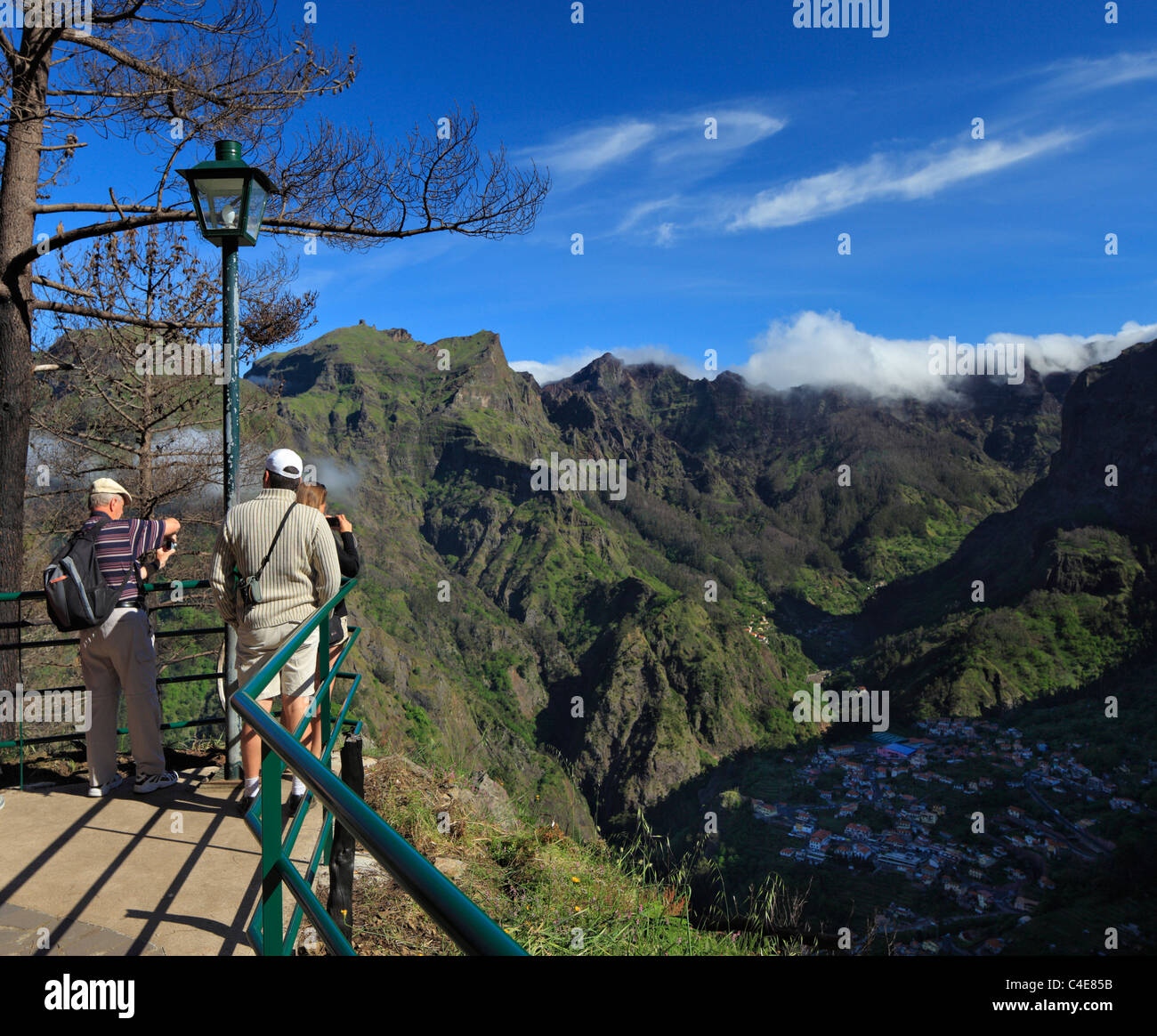 Tourists at Eira do Serrado, Madeira. - Stock Image