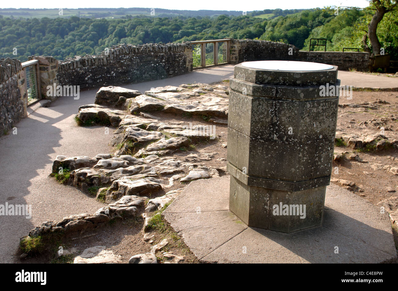 Topograph at Yat Rock, Symonds Yat, Wye Valley, Gloucestershire, England, UK - Stock Image