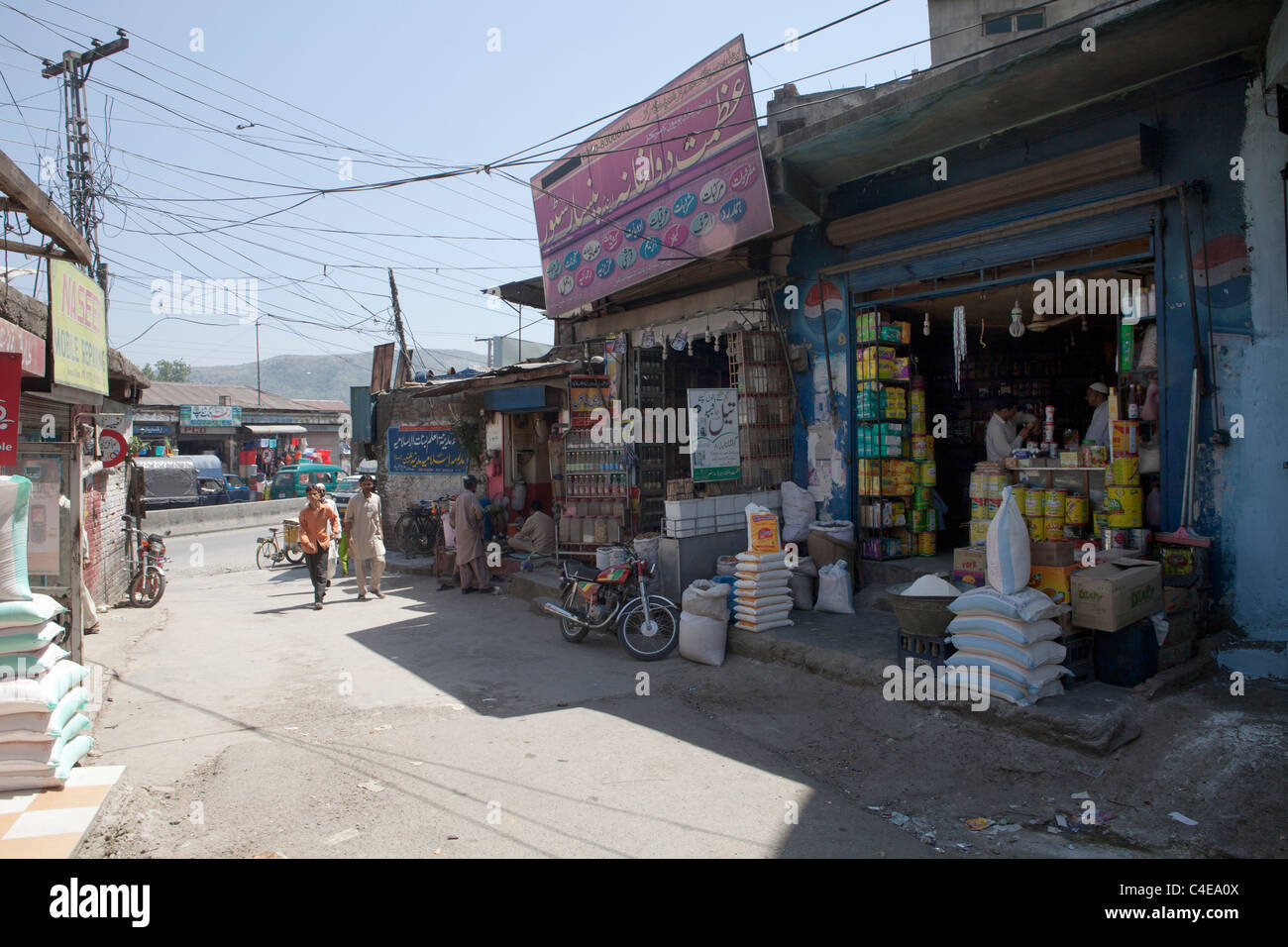 area in Abbottabad, pakistan where bin laden was killed - Stock Image