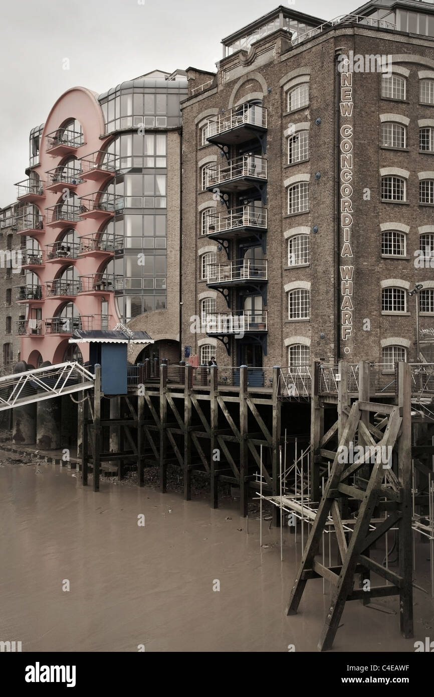 New Concordia Wharf, Shad Thames, London, UK. - Stock Image