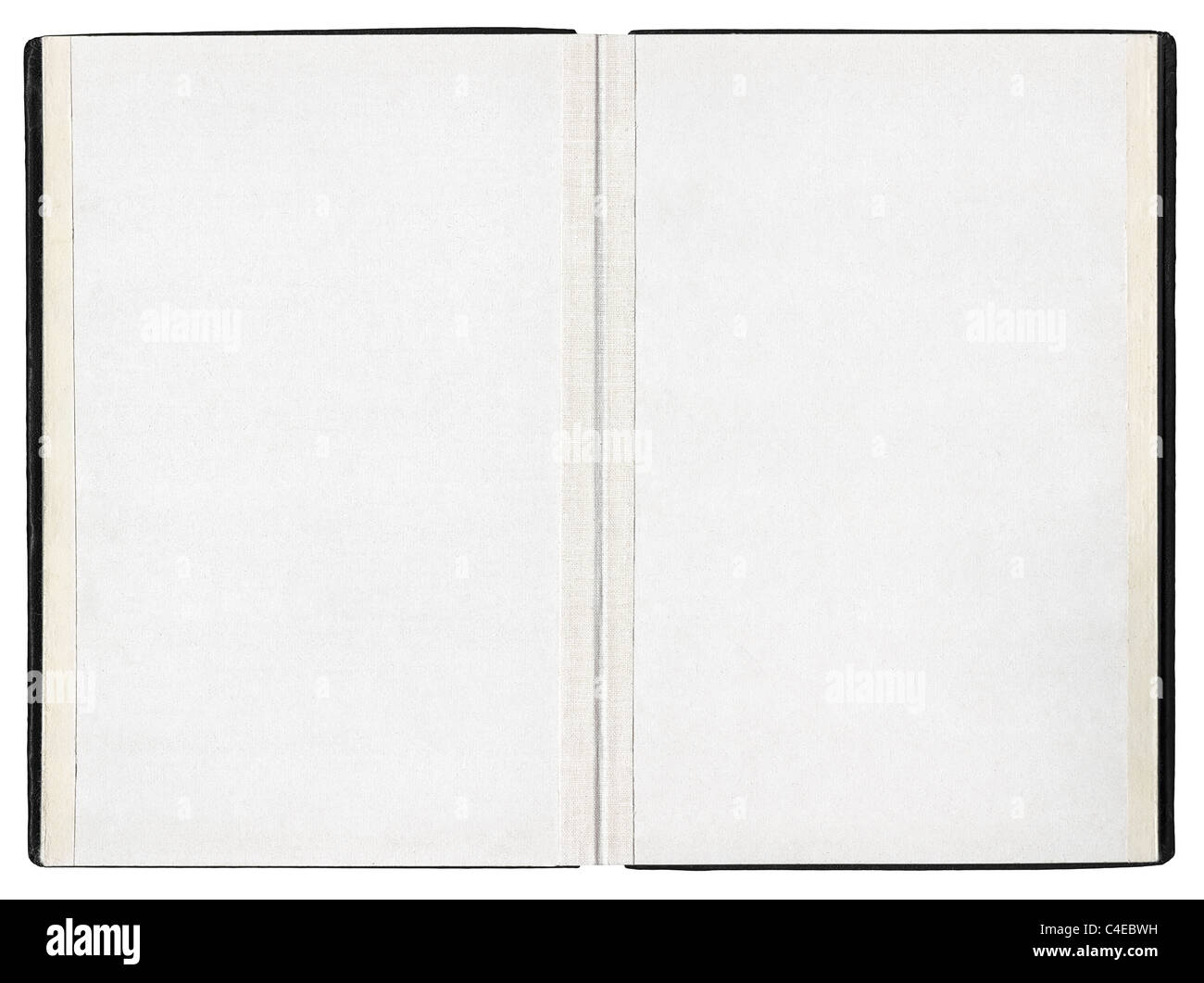 Open book on white background - Stock Image