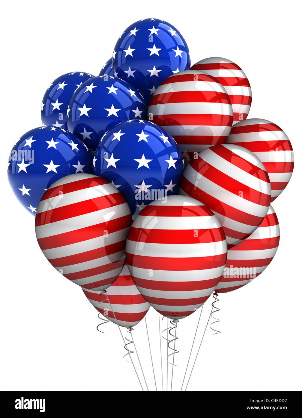 American patriotic balloons - Stock Image