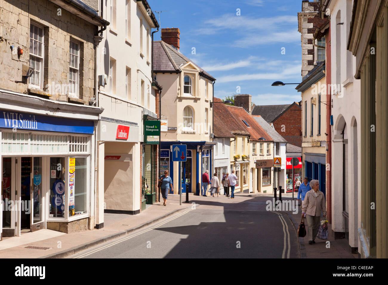 Shaftesbury, Dorset, England, UK town centre high street - Stock Image
