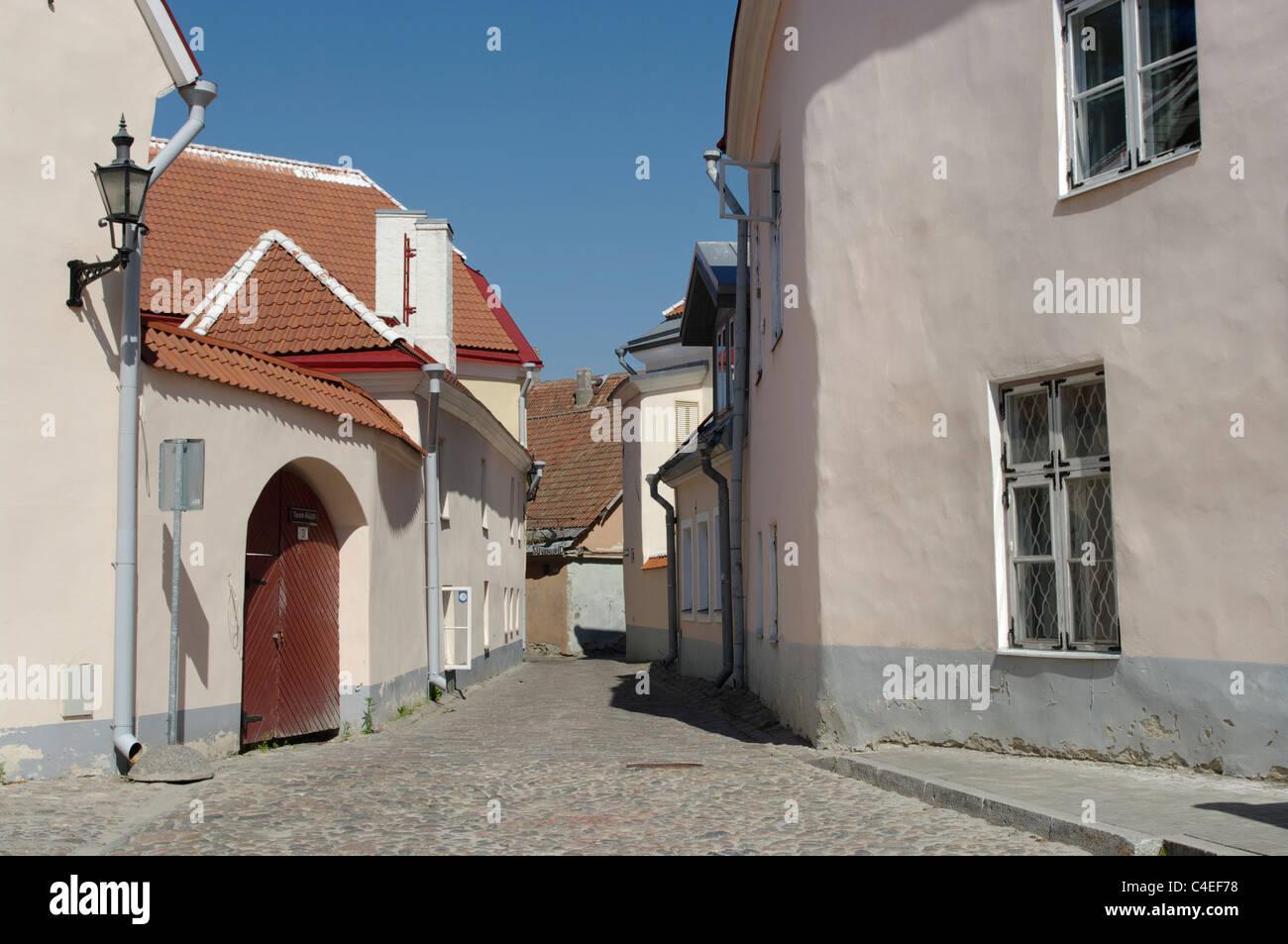 Toom-Ruutli street in Toompea Tallinn Estonia Europe EU - Stock Image